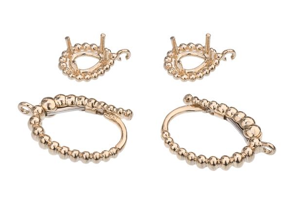 16X10mm Pear Diamond Earring