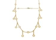 Bezel Diamond Necklace 0.69 CTW