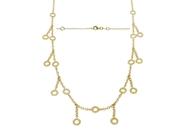 Bezel Diamond Necklace 0.85 CTW