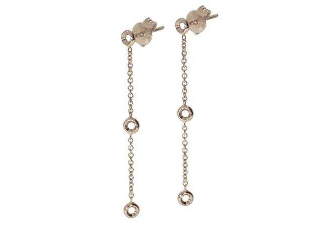 Diamond Chain Earrings-3 Stones