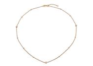 Bezel Set Diamond Necklace-42/45cm
