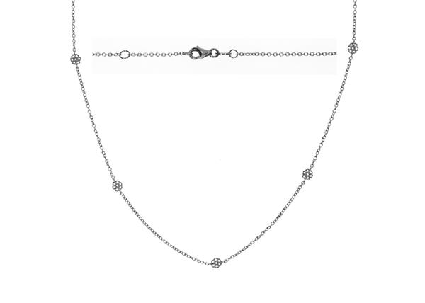 Bezel Diamond Necklace 1.01 CTW