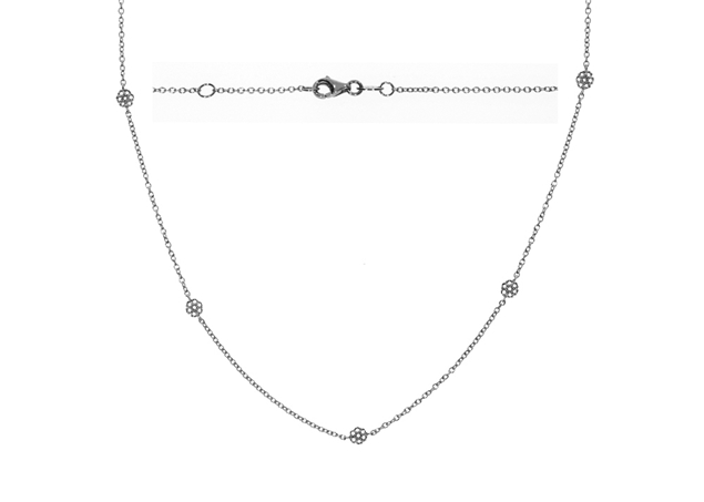 Bezel Diamond Necklace 1.01 CTW