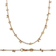 Bezel Diamond Necklace-42cm