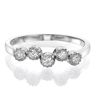 Picture of Five Stone Ring 0.25 CT TW