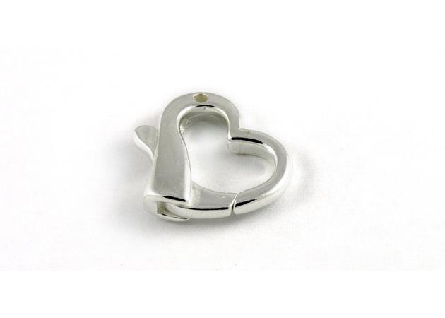 Изображение для категории Застёжка в форме сердца из серебра 925-й пробы
