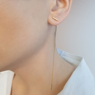 Picture of Single Earring with Diamond Band
