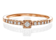 Изображение Engagement Ring Square shape 0.11 ctw