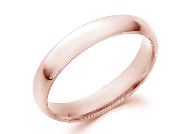 Изображение Domed Comfort Fit Wedding Band-4mm
