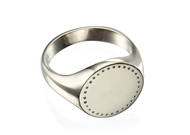Picture of Engraved Round Signet Ring