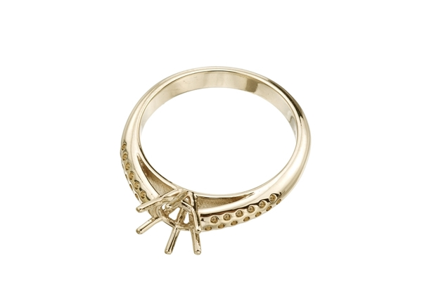 Picture of Cathedral Ring With Side Stones 6 Prong