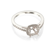Изображение Cushion Halo Engagement Rings