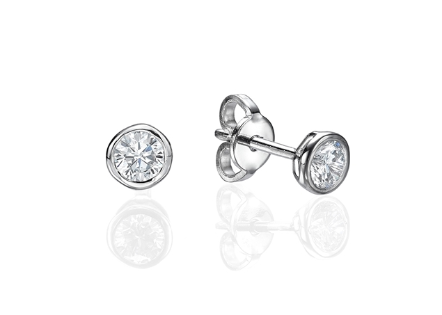 Изображение Bezel Set Earrings 0.2 CTW