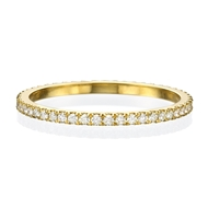 Picture of 14k Yellow gold ring with white diamonds all around