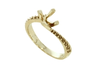 Изображение Four Prong Twist Ring with Side Stones