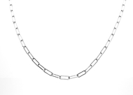 Picture of Flat Anchor Chain Rodium Plated 13x5mm