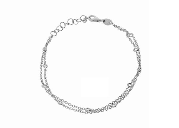 2 Lines Necklace Bracelet Setting 18 cm
