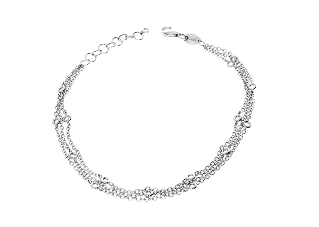 3 Lines Necklace Bracelet Setting 18 cm