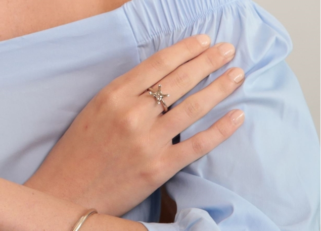 Picture of Square Solitaire Ring