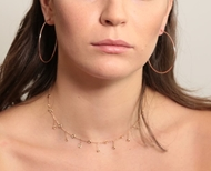 Изображение Bezel Diamond Necklace 0.85 CTW
