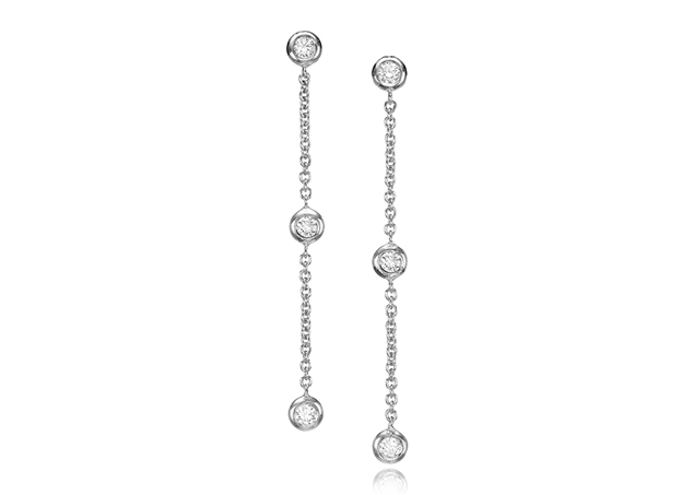 Picture of Diamond Bezel Chain Earrings 0.24 CTW
