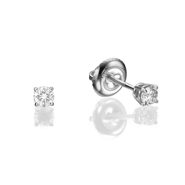 Picture of Screw  Stud Earrings 0.2 CTW
