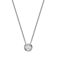 Bezel Set Diamond Necklace 3.0mm/0.10ct