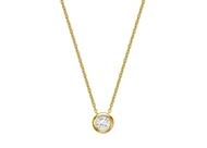 Picture of Bezel Set Diamond Necklace 2.5mm/0.05ct