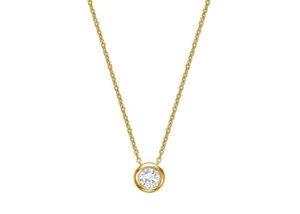 Изображение Bezel Set Diamond Necklace 2.5mm/0.05ct