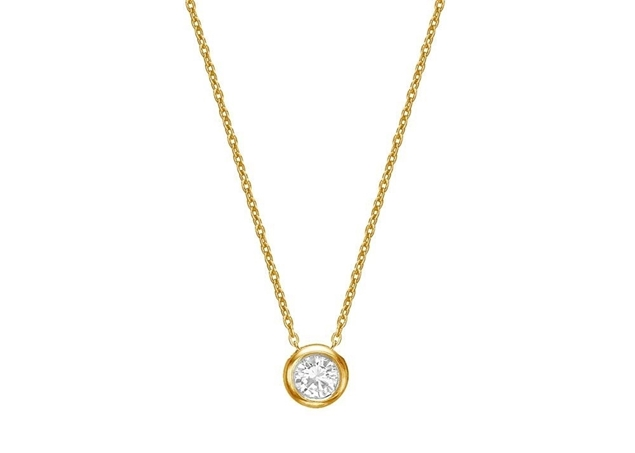 Изображение Bezel Set Diamond Necklace 2.5mm/0.05ct