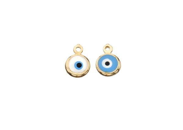 Picture of Enamel Round Evil Eye Pendant