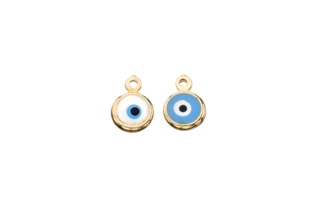 Picture of Enamel Round Evil Eye Pendant