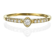 Picture of Engagement Ring -Oval Shape 0.13 CT TW