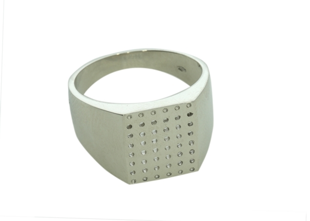 Engraved Signet Ring - 13X12mm