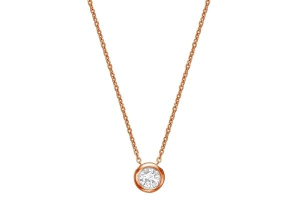 Pendant Diamond Necklace-42/45cm