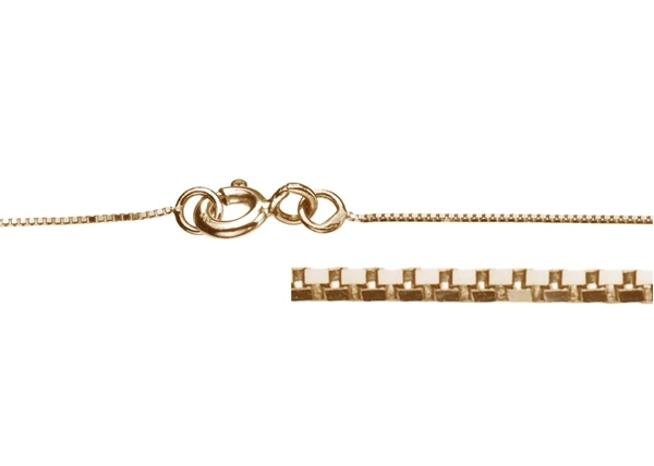 0.5mm Box Chain Necklace