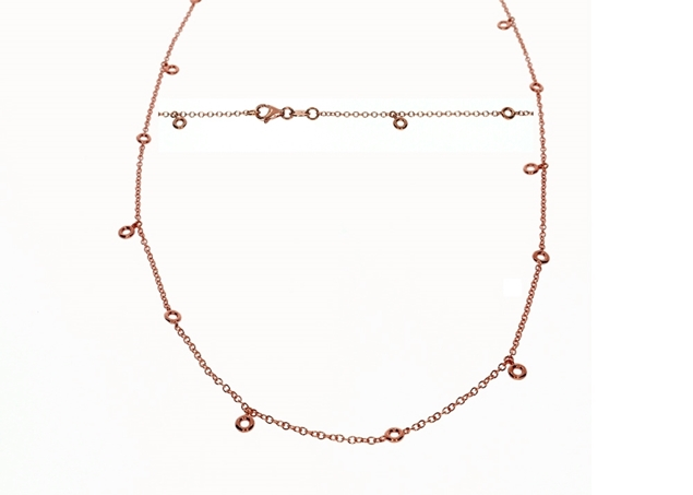 Bezel Diamond Necklace 0.45 CTW