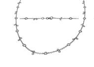 Bezel Diamond Necklace 2.65 CTW