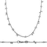 Bezel Diamond Necklace-0.6 CTW