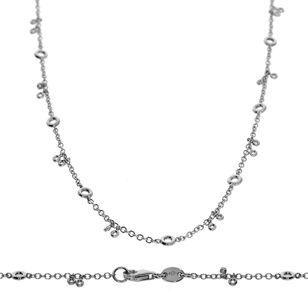 Bezel Diamond Necklace-0.6 CTW
