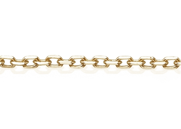 0.5mm Diamond Cut Cable Chain- Foot