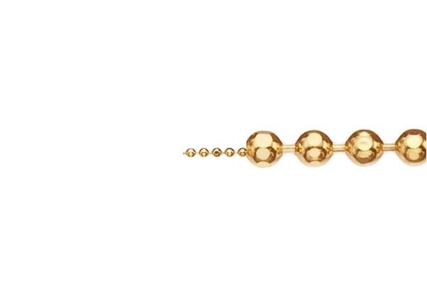 1mm Diamond Cut Ball Chain-by the Foot