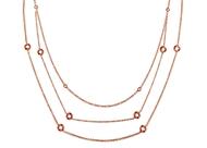 Bezel Set Diamond Necklace-by Meter