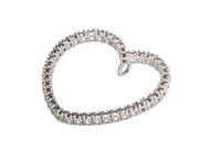 Diamond Heart Pendant for Settings