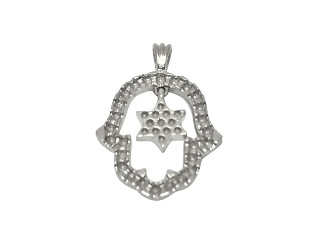 Hamsa Pendant+Star Of David For Setting