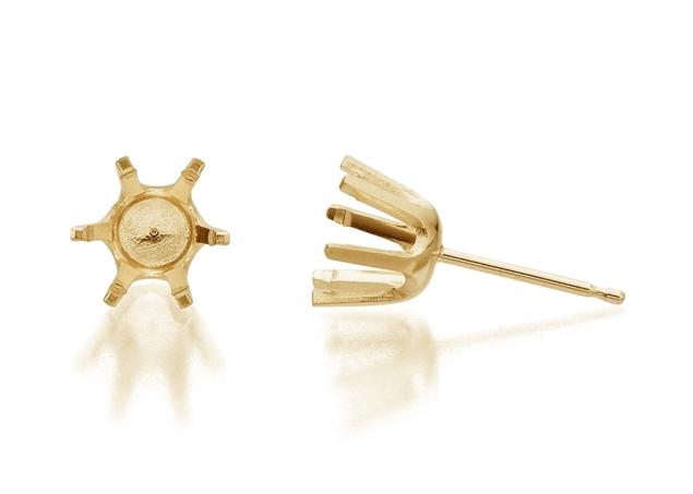 6 Prong Diamond Stud Earrings