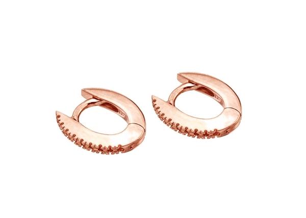 11x9mm Diamond Hoop Earring