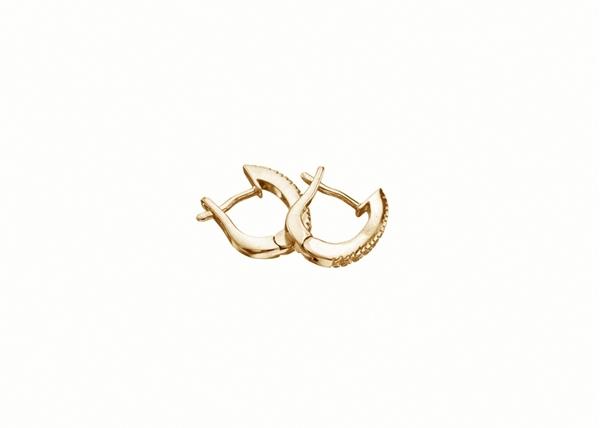 13x10mm Diamond Hoop Earring