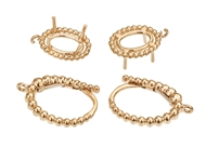 16x10mm Oval Diamond Earrings