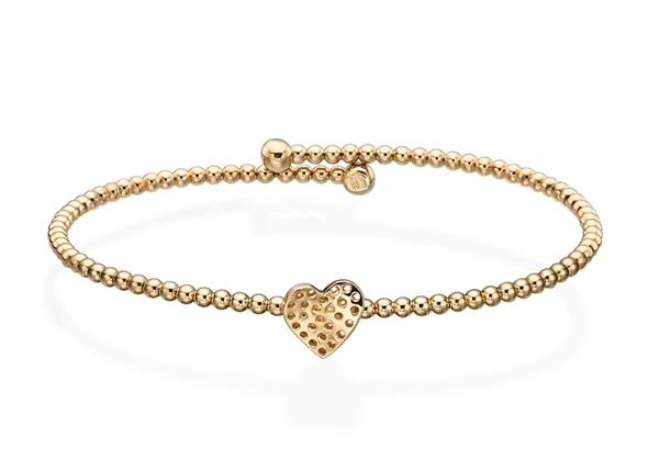 Beaded Bracelet-Flexible with Heart